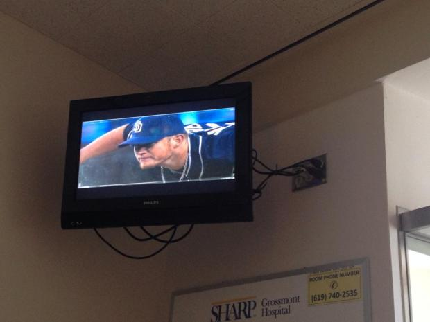 We watched the Padres during her hospital stay. I mean ... duh.