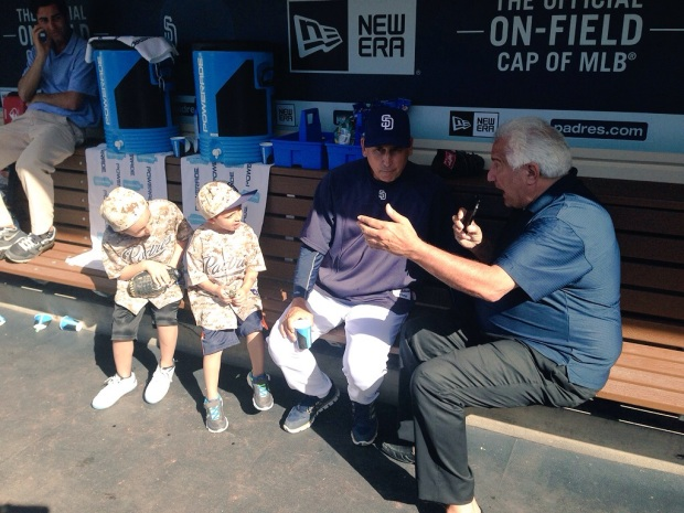 I really didn't have a good media dugout picture, but you get the gist.